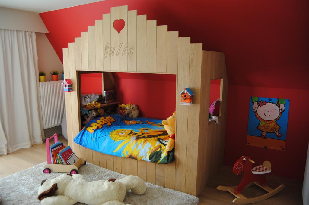 Kinderbed in Eik op maat | Meubelmakerij Ceulemans