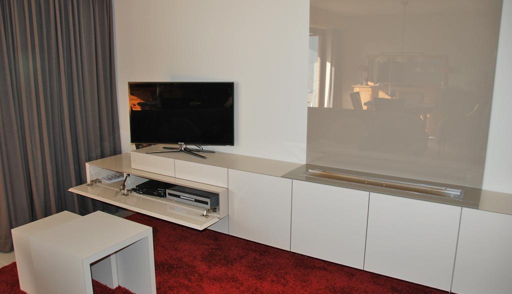 Moderne TV kast | Meubelmakerij Ceulemans Lier