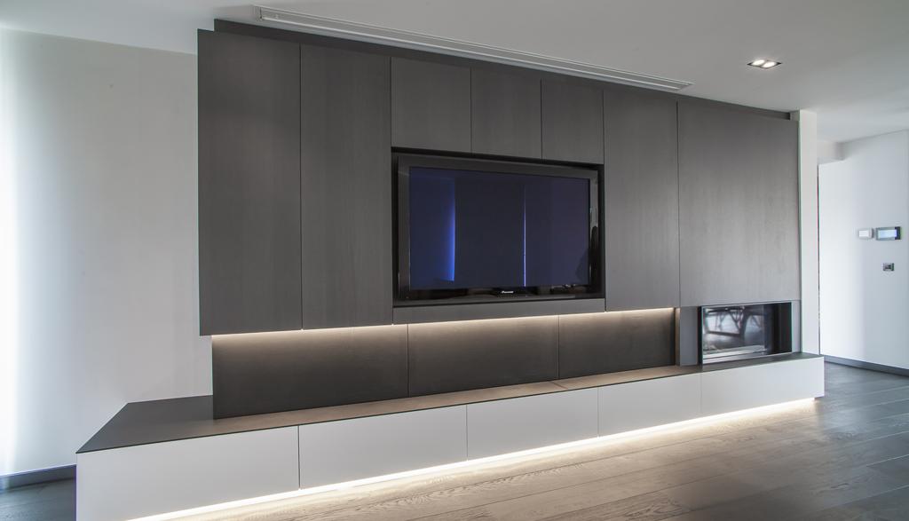 Strak TV meubel Woonkamer | Meubelmakerij Ceulemans Lier