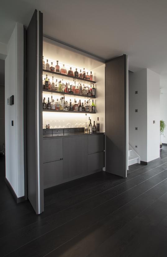 Bar op Maat met verlichting | Meubelmakerij Ceulemans Lier