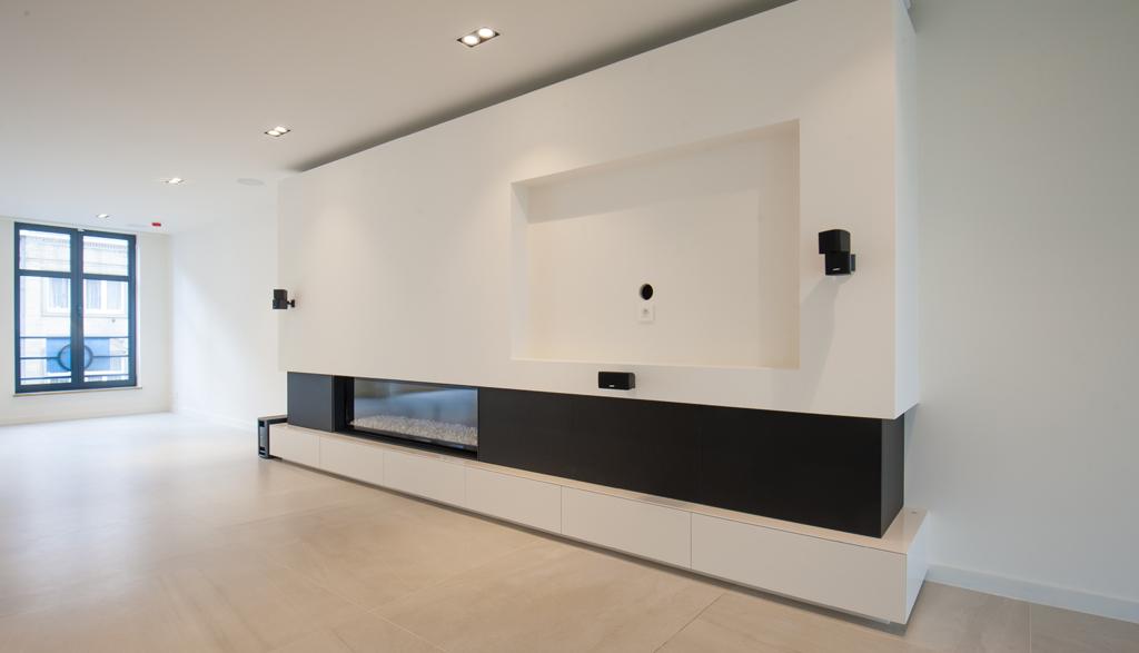 Strak TV meubel op maat | Meubelmakerij Ceulemans Lier